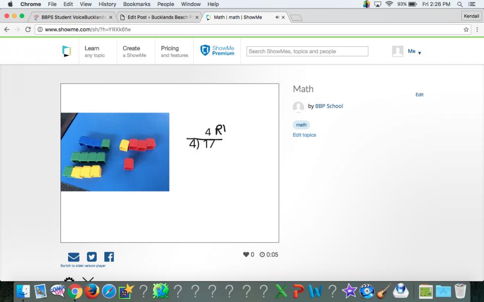 My maths presentation.Bucklands Beach Primary School
